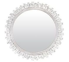 With a coastal flair, the white washed finish on the Saya Round Mirror emulates the faint hue of seashells. Its rustic design keeps a room grounded and beach-inspired. Round Mirror With Rope, Round Hanging Mirror, Rope Mirror, Mirror Art, Round Mirrors, Large Mirrors, Floor Mirror, Handmade Mirrors, Decorative Mirrors