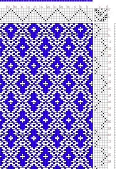 weaving drafts   Hand Weaving Draft: Page 127, Figure 17, Donat, Franz Large Book of ...