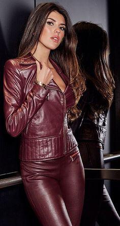 New women fashion ideas Neue Frauen Mode Ideen 2019 Leather Lady ❤, - Jumpsuit Overall Damen, Fashion Moda, Womens Fashion, Fashion Beauty, Dress Skirt, Bodycon Dress, Tight Leather Pants, Leather Jacket, Style Feminin