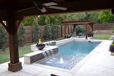 Fantastic pool designs which will make yours the best on the block Affordable, Premium Small Dallas Small Plunge Pool Rectangular Pool Design Ideas, Pictures, Remodel Decor Backyard Pool Landscaping, Backyard Pool Designs, Small Backyard Landscaping, Swimming Pools Backyard, Swimming Pool Designs, Landscaping Ideas, Backyard Gazebo, Patio Ideas, Small Pool Backyard