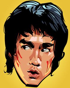 """Beautiful """"Bruce Lee Head"""" metal poster created by Nikita Abakumov. Our Displate metal prints will make your walls awesome."""