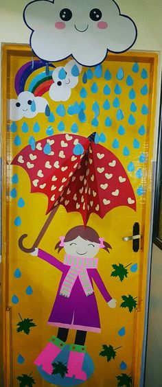 Porta decorada Educação infantil