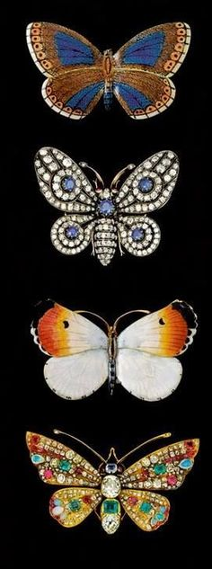 Butterfly and moth brooches from the end of the nineteenth century...Sotheby's