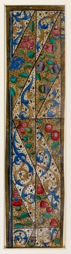 Pretty medieval manuscript of the day is a very pretty little border from a fifteenth century manuscript produced in Italy. It is a cutting from a manuscript which no longer survives, bar these few fragments. Image source: British Library MS Additional 60630. Image declared as public domain on the British Library website.