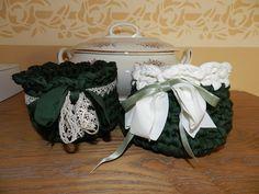 Cestino in fettuccia all'uncinetto | tutorial fondo tondo|cesta crochet ...