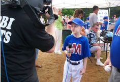 11-year-old Sam, who has neuroblastoma, wished to have a baseball field in his backyard.