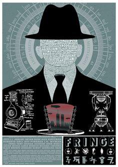 Observers are evil! Fringe Tv Show, Fringe Tv Series, Bryan Burk, Walter Bishop, Favorite Tv Shows, My Favorite Things, Tumblr, Cool Posters, Comics