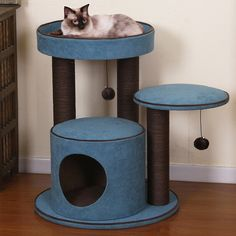 Pet Furniture You'll Love in 2020 Cat Tree Condo, Cat Condo, Large Cat Tree, Cat Perch, Cat Towers, Munchkin Cat, Cat Scratching Post, Pet Furniture, Furniture Dolly