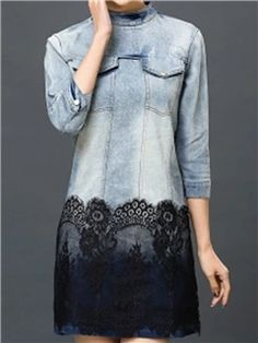 Ericdress Gradient Lace Casual Dress