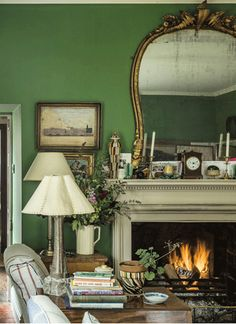 Mossy green, antiques