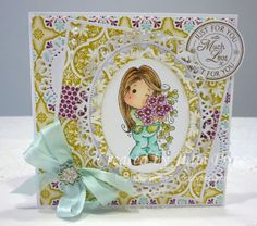 New Year Sakura Tilda from the Winter Wonderland collection and Mini Doily Doohickey Die http://julieprice3.wordpress.com/2013/11/26/time-for-tea/