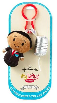 Make sure you're heard loud and clear with Kid President and his iconic tin can telephone. itty bittys® Clippys come in pairs so you can share or trade them with friends. Plus, they're just the right size to clip on a backpack, belt, purse strap or wherever you want them to tag along. Add this fun kids' accessory from Hallmark to your back-to-school shopping list!