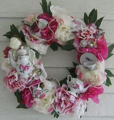 teapot_wreath - I LOVE THIS!!!!!!!