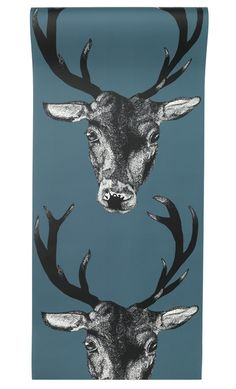 Stag Wallpaper Teal - Graduate Collection | Graduate Collection