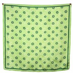 Banana Republic Hand-rolled Luxurious 100% Silk Twill Floral Scarf, Green, One size Banana Republic. $29.99