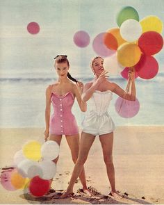 happy vintage balloon women by PARTY PERFECT, via Flickr