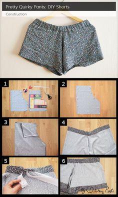 instrucciones de pantalones cortos de bricolaje