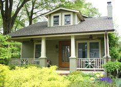 Similar style to my house. Love the green, but with white trim.