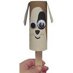 Cardboard Tube Puppy Puppet Cardboard Tube Crafts, Toilet Paper Roll Crafts, Cardboard Playhouse, Cardboard Paper, Paper Paper, Puppy Crafts, Toilet Roll Craft, New Year's Crafts, Easy Crafts