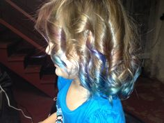Ombré pink purple and blue