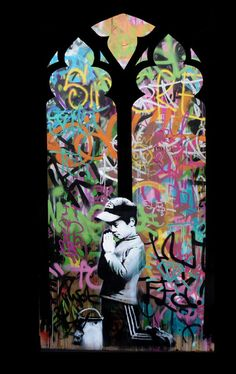 Banksy street art - just to think- he sold his work on the streets of NY for $60 just few days ago!!!
