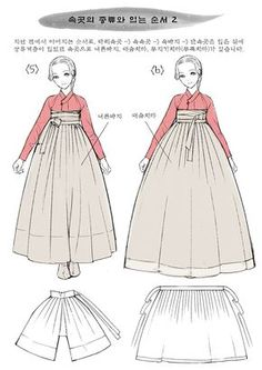 Creator's Playground: Grafolio Korean Traditional Clothes, Traditional Dresses, Dress Drawing, Drawing Clothes, Korean Dress, Korean Outfits, Mode Kimono, Illustration Mode, Costume