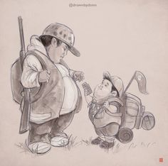 Hunt for the Wilderpeople's Ricky Baker meets 'Up's Russel! Gold Movie, I Movie, Ricky Baker, Wilder People, Hunt For The Wilderpeople, Taika Waititi, Movie Characters, Fictional Characters, Rise Of The Guardians