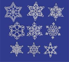 9 snowflakes patterns Contact joscyl@yahoo.com to custom make these designs
