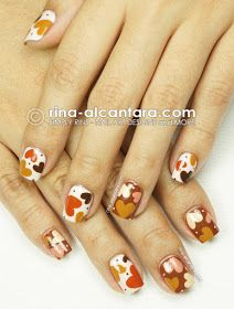 Simply Rins: Nail Art: Hearts for Spring