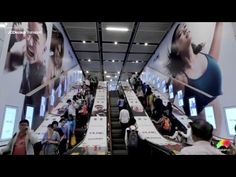 [ DISE ]  Digital Signage software JCDecaux Transport (Hong Kong): Pure Fitness Digital Escalator Crown Bank OOH Advertisement- YouTube