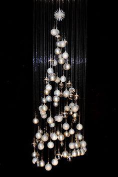 Modern floating Christmas tree xmas Xmas holiday by IVARTON, $175.00
