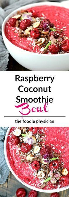 Raspberry Coconut Smoothie Bowl