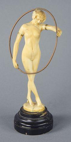 Carved Ivory 'Hoop Dancer' Figure
