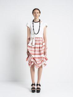 IOANNA KOURBELA DRESS DANCING LINES 20280-12911 Woven Fabric, Cotton Fabric, Snow White Dresses, Summer Wardrobe, Best Sellers, New Look, Ballet Skirt, Dance, Boutique