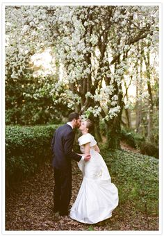 Outdoor pear tree wedding