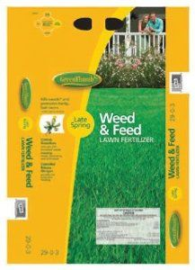 The Andersons 16-Pound Green Thumb Weed and Feed Lawn Fertilizer by The Andersons. $15.63. Prevents weeds. Covers up to 5000 square feet. Prevents growth of dandelions. Added fertilizer promotes lush, healthy lawn. Green Thumb Weed and Feed Lawn Fertilizer is effective against dandelions and other common lawn weeds. Use it in late spring. Promotes healthy, lush lawns. 16-Pound package covers up to 5,000 square feet. Phosphorus free.. Save 41%!