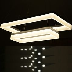 ELEGANZO COLLECTION MODERN LED STACKED CHANDELIER