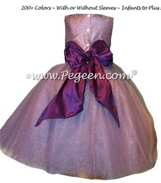 Sage silk victorian style CUSTOM FLOWER GIRL DRESSES