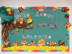 Use tree and some animals and bugs...Wild About Reading