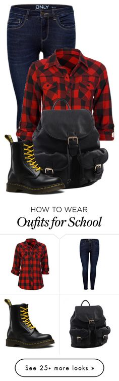 """""""First day of school"""" by pink-roosje on Polyvore featuring Full Tilt, MKF Collection and Dr. Martens"""