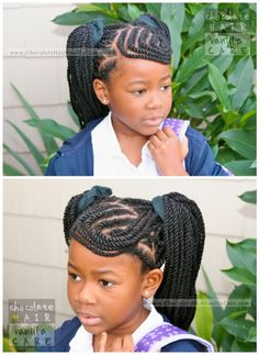Chocolate Hair / Vanilla Care: Triangle-Part Yarn Extensions Tutorial and Style Options #NaturalHair #Hairstyle