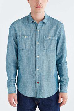 CPO Emile Herringbone Button-Down Shirt