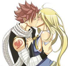 Nalu 4ever   We Heart It   fairy tail, nalu, and kiss