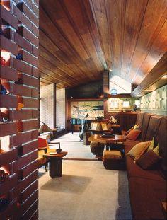 Zimmerman House. 1950 Manchester, New Hampshire. Usonian Style. Frank Lloyd Wright