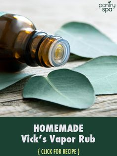 Save your money by making your own DIY homemade version of Vicks Vapor Rub at home. It will soothe congestion and allergy symptoms. Also try a Shower Disk.