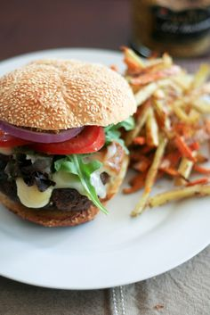 Burger & Fries (The Healthy Foodie)