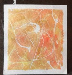 Grow Creative: Abstract Watercolor Tutorial -- rubber cement resist with watercolor paints. I bet you could actually draw with the rubber cement and put water color over that...