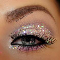TheAmazingWorldOfJ: Prom Princess♥ Statement Eyes & Nails - Pink with Rhinestones
