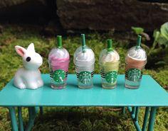 Miniature coffee drink for dollhouse fairy garden