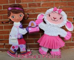 Doc McStuffins pinata or her friends...Lambie by Marlenespinatas